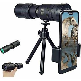Portable Monocular Telescope Super Telephoto Zoom 10-300X40mm  Tripod Clip Night Vision