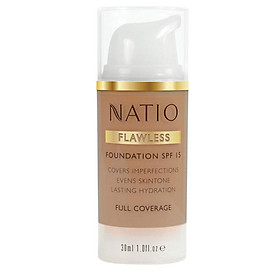 Natio Flawless Foundation SPF 15 Medium Tan Online Only
