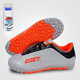 Giày đá bóng trẻ em EBET 6302 Bạc - Tặng bình làm sạch giày cao cấp