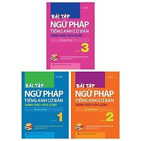 Combo Bài Tập Ngữ Pháp Tiếng Anh Cơ Bản Dành Cho Học Sinh - Quyển 1 - 2 Và 3 (Bộ 3 Quyển)