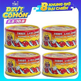 Lốc 4 hộp cá nục sốt cà Ba Cô Gái ( 190g/ hộp)