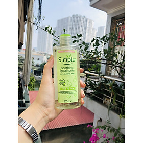 Nước hoa hồng Simple Kind To Skin Soothing Toner 200ml (Bill Anh)