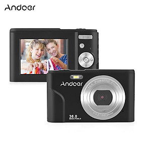Andoer Digital Camera 36MP 1080P 2.4-inch IPS Screen 16x Zoom Self-Timer 128GB Extended Memory Face Detection
