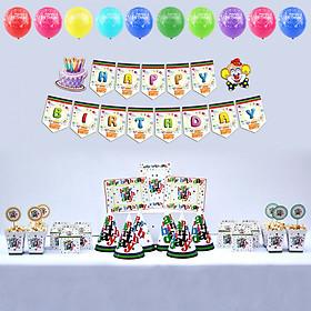 Bộ phụ kiện trang trí sinh nhật Happy Birthday