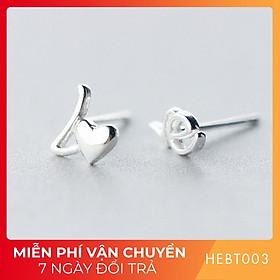 Bông hoa tai nữ bạc s925 cao cấp HEBT003 BH trọn đời