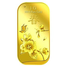 Miếng Vàng Hoa Mai Tượng Trưng Cho Mùa Xuân 1G - Vàng 999.9