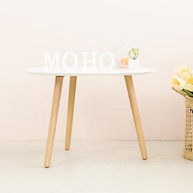 Bàn Sofa - Bàn Cafe - Bàn Trà Gỗ Cao Su MOHO VERONA 801 (Trắng)
