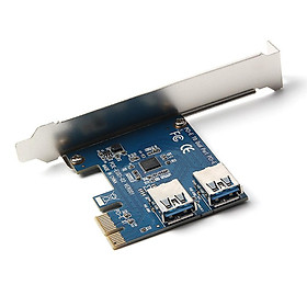 2-port PCI-E to USB 3.0 HUB 5Gbps Expansion Card Adapter for Desktop Computer Components Riser Cards Mining Cards