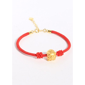 Lắc Tay Charm Heo Tài Lộc Bằng Bạc s925 Dát Vàng 18k Dành Cho Cả Nam Và Nữ Bảo Ngọc Jewelry
