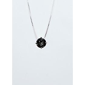Dây Chuyền Bạc Thật 100% italy s925 Keely Valda pha lê Swarovski Black Diamond
