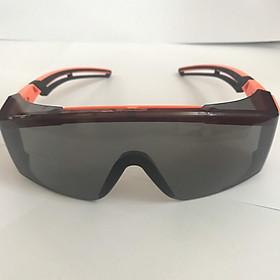 Kính Cao Cấp Bảo Vệ Mắt Chống Tia UV / Chống Sương Mù / Bụi / Gió Tiện Dụng ( Viền cam đen, mắt kính tối)