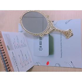 Gương cầm tay cổ điển hình oval S091 - KBOX1998