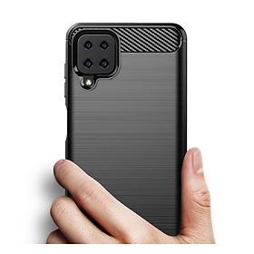 Ốp lưng chống sốc Vân Sợi Carbon cho Samsung Galaxy A12