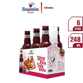 Lốc 6 Chai Bia Hoegaarden Rosée (248ml x 6 Chai)