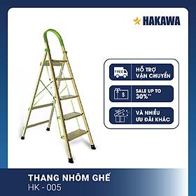 Thang nhôm ghế Nhật Bản HAKAWA HK005 - Phân phối chính hãng ( 5 Bậc )