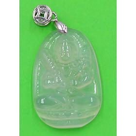 Hình đại diện sản phẩm Mặt dây chuyền Hư Không Tạng Bồ Tát thạch anh trắng 3.6 cm