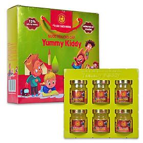 Hộp Nước Yến Thiên Hoàng Yummy Kiddy Hương Trái Cây (6 Lọ x 70 ml)