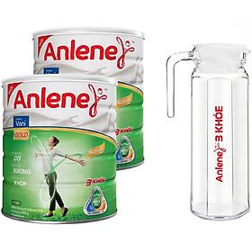 Combo 02 Sữa Bột Anlene Gold Movepro Hương Vanilla (Lon 800g) - Tặng 1 Bình Thủy Tinh