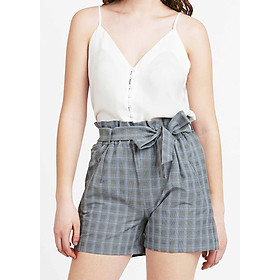Quần Shorts Nữ Caro Màu Xám The Cosmo Checked Shorts (Grey)