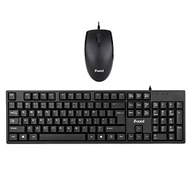 Founder (iFound) F6151 keyboard and mouse set wired office mouse keyboard usb digital computer keyboard peripherals