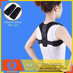 Đai  chống gù lưng nam nữ HT SYS Posture Corrector [tặng 2 miếng trợ lực]