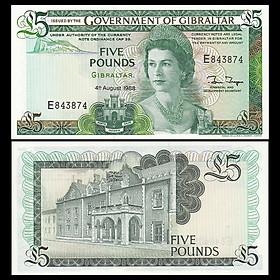 Tiền Gibgaltar 5 poun nữ hoàng Elizabeth II