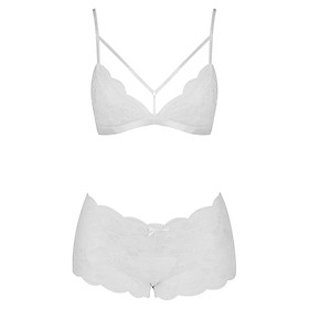 Set Bralette Không Mút Sexy Forever Pure#1 - Trắng