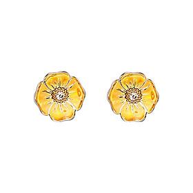 Bông Tai Galatea Jewelry Gloria Hoa Anh Túc GL006E - Vàng