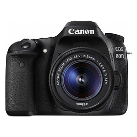 Máy Ảnh Canon 80D + Lens 18-55mm - Hàng Chính Hãng