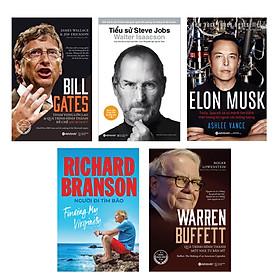 Combo Doanh Nhân Nổi Tiếng Thế Giới: Bill Gates + Steve Jobs + Elon Musk + Richard Branson + Warren Buffett