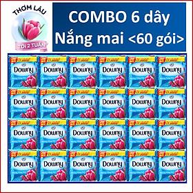 COMBO 6 dây Nước Xả Vải Downy Nắng mai 10 gói x6