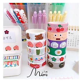 Băng dính washi tape nhiều họa tiết (cuộn) nguồn hàng giá rẻ