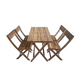 Bộ bàn xếp Leti Islands gỗ keo