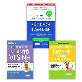 Combo Sách Dinh Dưỡng Hay Nhất Mọi Thời Đại: Bí Mật Dinh Dưỡng Cho Sức Khỏe Toàn Diện + Nhân Tố Vi Sinh + Enzyme Chống Lão Hóa - Đẩy Lùi Tuổi Tác Tiếp Thêm Sức Sống Mới Cho Tế Bào ( Tái Bản 2020)