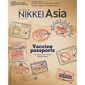 Nikkei Asian Review: Nikkei Asia - 2021: VACCINE PASSPORTS - 13.21 tạp chí kinh tế nước ngoài, nhập khẩu từ Singapore