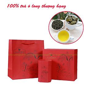 Hộp trà olong hứng dừa - Trà Olong thượng hạng Tân Cương Xanh