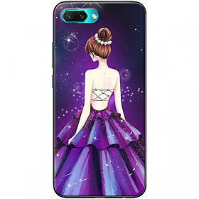 Ốp lưng dành cho điện thoại HONOR10  Mẫu Cô gái váy tím
