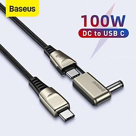 Cáp nguồn Baseus 1 for 2 Fast Charging Data Cable Type C to C + DC 100W - Hàng chính hãng