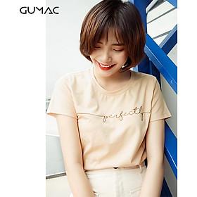 Áo thun nữ đẹp GUMAC thêu perfectly ATA9118
