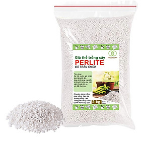 Đá Perlite (đá trân châu)-thích hợp để trồng hoa, trồng lan,hoa sen đá-bổ sung chất dinh dưỡng, điều hòa nhiệt độ -2kg