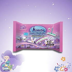 Khăn ướt lau sàn kháng khuẩn tiện dụng IHomeDa - Hương Lavender ( 10 miếng ) - iHomeda anti-bacteria floor and kitchen wet wipes ( 10 sheets per package)