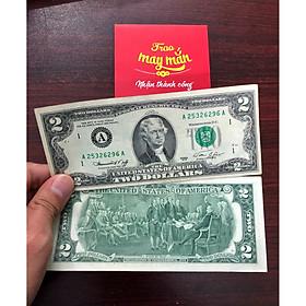 Tiền 2 Đô 1976 may mắn, sưu tầm tiền cổ, tặng kèm bao lì xì - The Merrick Mint