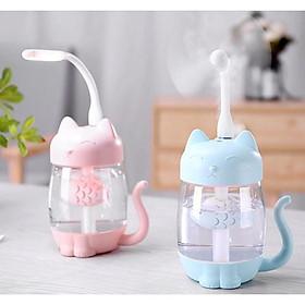 Máy phun sương tạo độ ẩm không khí cổng USB hình mèo mini dễ thương máy xông tinh dầu