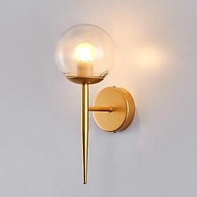 Đèn tường, đèn decor khung mạ vàng