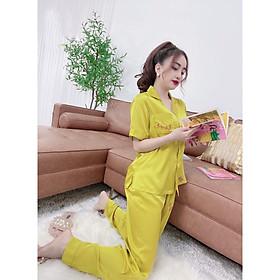 Đồ Mặc Nhà, Đồ Bộ Nữ Pijama Chất Lụa Tơ Mát, Mịn Thêu Quả Dâu, Vải Đẹp May Kỹ