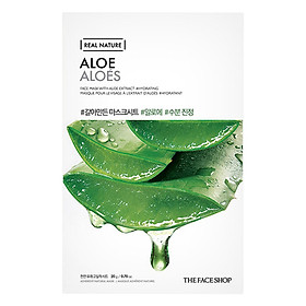 Mặt Nạ Giấy The Face Shop Real Nature Aloe Face Mask 32500391 (20g)