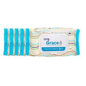 Bộ 5 gói Khăn giấy ướt GRACE - loại 100 tờ/gói