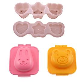 Bộ khuôn làm cơm/bánh tạo hình ngộ nghĩnh cho bé (5 khuôn) tặng 2 zipper 12cm
