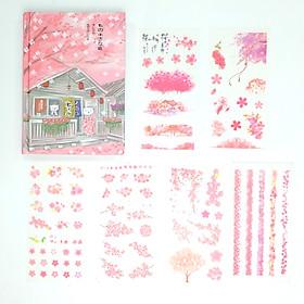Sổ Kế Hoạch Nhật Ký 365 Ngày Life Planner Nhật Bản Hồng Kèm Bộ 6 Tấm Sticker Trang Trí Mẫu Ngẫu Nhiên