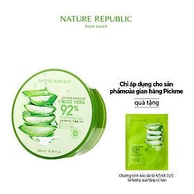 Gel Dưỡng Ẩm Tối Ưu Từ Nha Đam: Nature Republic Aloe Vera 92% 300ml